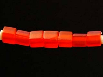 Japanese Miyuki Cube Glass Seed Bead Size 4mm - Orange - Transparent Matte Finish