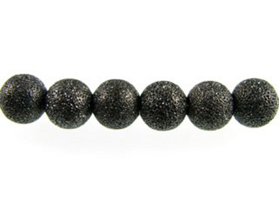 Metal 4mm Round Stardust Beads and Spacers - Gunmetal Finish