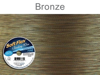 .014 (thin), 21 strand golden bronze Soft Flex Wire | Soft Flex Wire