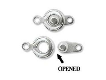 6mm Ball and Socket Clasp - Silver Finish - 10 Pack | Base Metal Jewelry Clasps | Findings