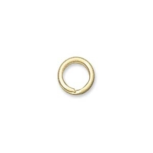 6mm Splitring Jumpring - Gold Finish - 24 Pack | Base Metal Jumprings | Findings for Making Jewelry