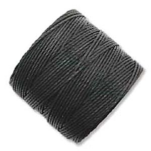 extra-heavy #18 black Superlon bead cord | Superlon bead cord