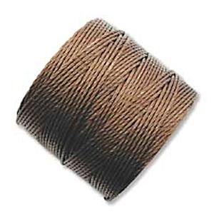 .5mm, extra-heavy #18 brown Superlon bead cord | Superlon bead cord