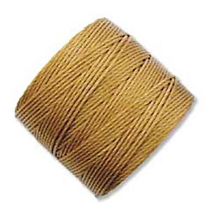 .5mm, extra-heavy #18 gold Superlon bead cord | Superlon bead cord