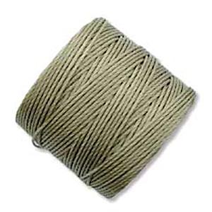 .5mm, extra-heavy #18 khaki Superlon bead cord | Superlon bead cord