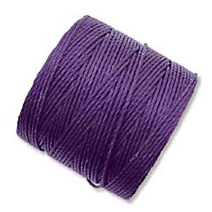 extra-heavy #18 purple Superlon bead cord   Superlon bead cord