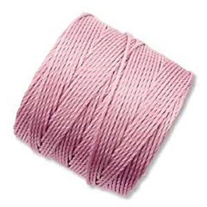 .5mm, extra-heavy #18 rose Superlon bead cord | Superlon bead cord