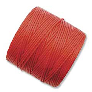 .5mm, extra-heavy #18 shanghai red Superlon bead cord | Superlon bead cord