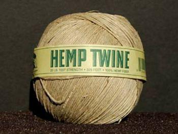 thin (20 lb. test) natural color Hemp Twine   Hemp Twine