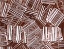 Japanese Miyuki Tila Bead - Crystal Clear - Transparent Finish   Glass Seed Beads
