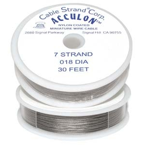 .018 (thick), 7 strand clear (grey) Tigertail (cable) | Tigertail (cable)