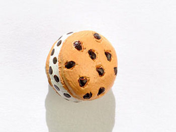 11 x 9mm Ice Cream Sandwich Hand-painted Clay Bead | Natural Beads