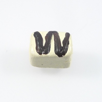 Approximately 10mm Chocolate Petit Fours Hand-painted Clay Bead   Natural Beads