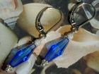Sparkling Sapphire Swarovski Earrings