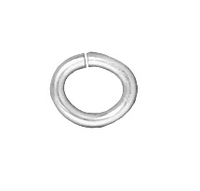 lead free pewter 6 x 4.5mm - 20g oval jumpring jumpring silver finish