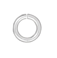 lead free pewter 5mm - 16g open jumpring jumpring silver finish