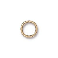 brass 10mm with 8mm I.D. - 18g open jumpring jumpring gold finish