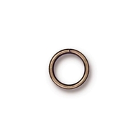 brass 10mm with 8mm I.D. - 18g open jumpring jumpring antique brass finish