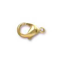 Image brass 9 x 15mm lobster claw clasp gold finish
