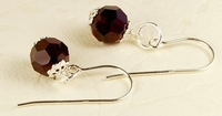 Swarovski Garnet Birthstone Earrings