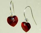 Image Crystal Heart Earrings