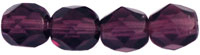 Image Czech Pressed Glass 6mm faceted round Amethyst transparent