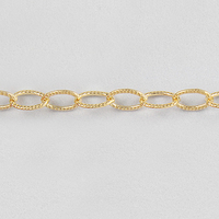 Image goldfill textured oval cable Chain 2.5mm
