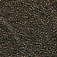 Image Seed Beads Miyuki Seed size 11 dark bronze metallic matte