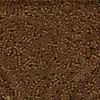 Seed Beads Miyuki Seed size 11 light brown transparent matte