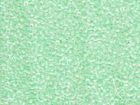 Image Seed Beads Miyuki Seed size 11 crystal ab w/light mint green color lined iridesc