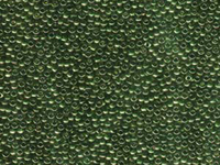 Seed Beads Miyuki Seed size 11 olive green gold luster
