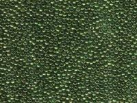 Image Seed Beads Miyuki Seed size 11 olive green gold luster