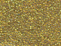 Seed Beads Miyuki Seed size 11 yellow ab color lined iridescent