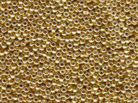 Seed Beads Miyuki Seed size 11 galvanized yellow gold metallic