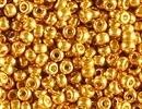 Image Seed Beads Miyuki Seed size 11 yellow gold duracoat galvanized