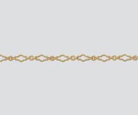 goldfill fancy krinkle long and short diamond Chain 3.2mm