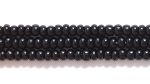 Seed Beads Czech Seed size 11 black opaque
