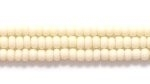 Seed Beads Czech Seed size 11 bone opaque