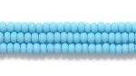 Image Seed Beads Czech Seed size 11 turquoise blue opaque matte