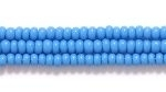 Image Seed Beads Czech Seed size 11 deep turquoise blue opaque