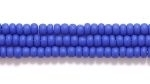 Seed Beads Czech Seed size 11 royal blue opaque matte