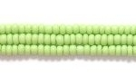 Seed Beads Czech Seed size 11 pale green opaque