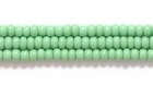 Seed Beads Czech Seed size 11 light green opaque