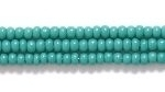 Seed Beads Czech Seed size 11 blue green opaque