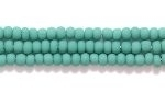 Seed Beads Czech Seed size 11 blue green opaque matte