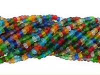 Seed Beads Czech Seed size 11 mixed colors transparent matte
