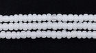 Seed Beads Czech Seed size 11 opal white opaque matte
