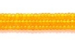 Seed Beads Czech Seed size 11 light orange transparent