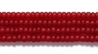 Seed Beads Czech Seed size 11 ruby red transparent matte