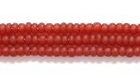 Seed Beads Czech Seed size 11 garnet red transparent matte